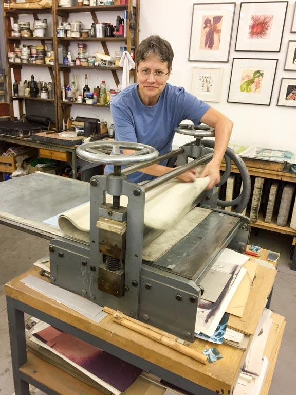 An der Druckpresse